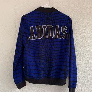 Adidas originals blue NY snakeskin track jacket